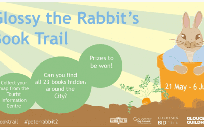 Glossy the Rabbit's Book Trail: 21 May – 6 June