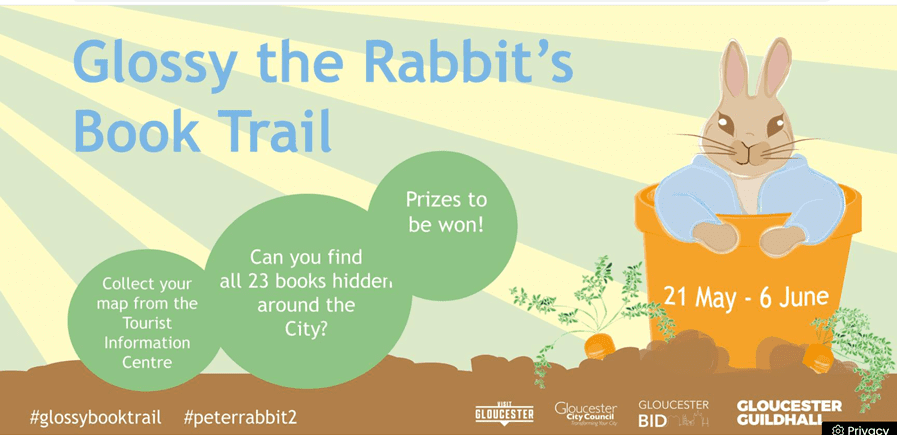 Glossy the Rabbit's Book Trail