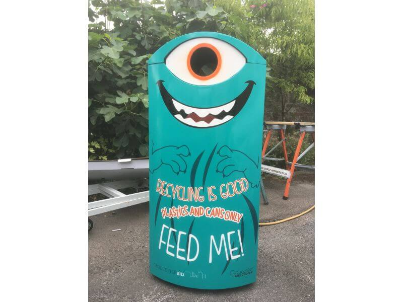 Recycling Bin unveiled on Southgate Street