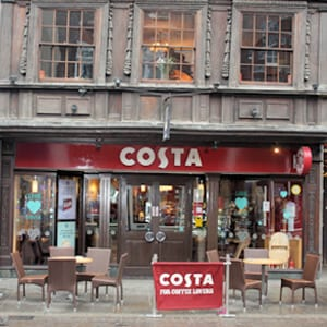 Costa Coffee Southgate Street Gloucester Four Gates