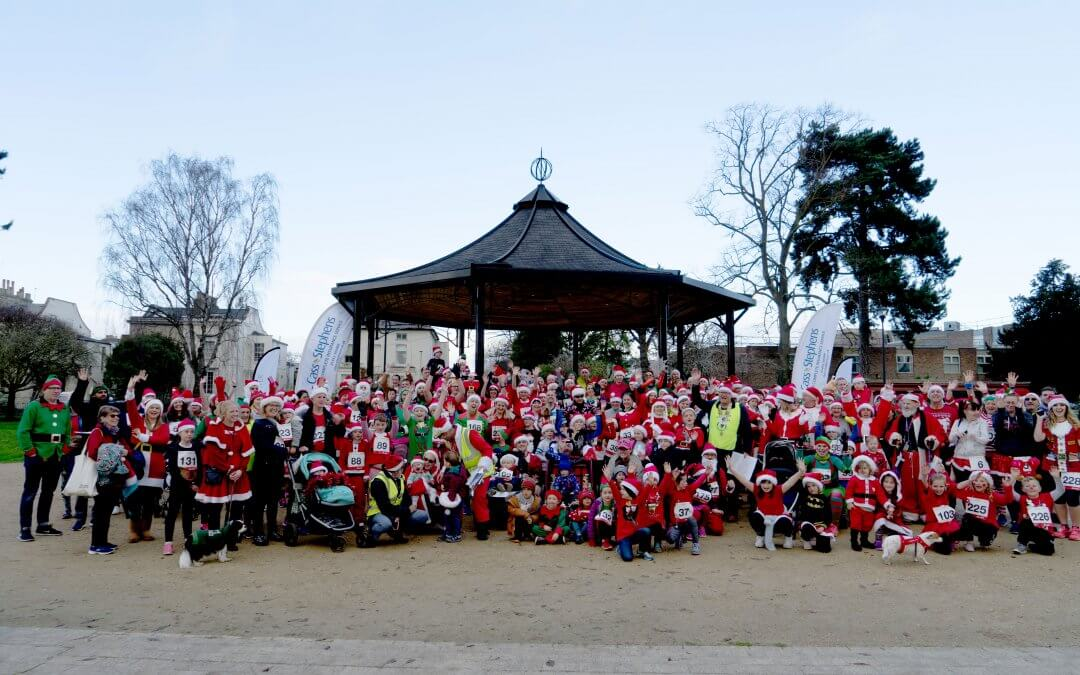 Santas suit up for the Gloucester Santa Fun Run this December