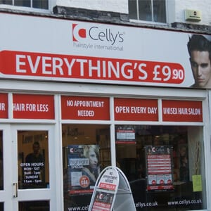 Celly's Hairstyle International Westgate Street Gloucester Four Gates