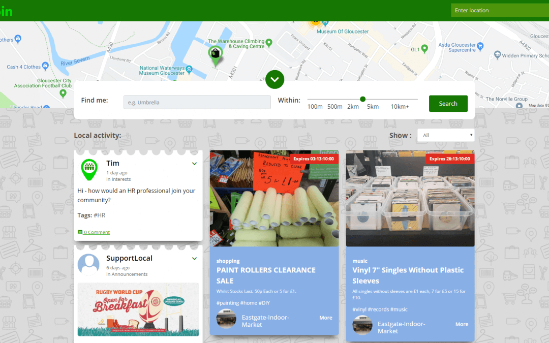 UK's first real-time shopping directory launches in Gloucester